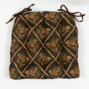 Green Pinecone Chair Pad