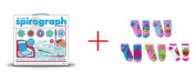 Spirograph Deluxe Design Set and Shopkins Low Cut Ankle Socks Set - 5 Pack - Bundle