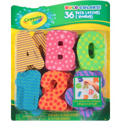 Crayola 36 Bold Colours Bath Letters & Numbers