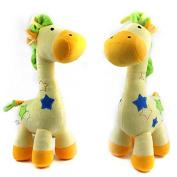 Lanlan 1PCS Yellow Baby Infant Toys Stuffed Animals Doll Plush Rattles Activity Musical Toys Bed Bell Giraffe