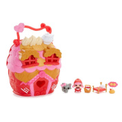 Lalaloopsy Tinies Scarlet's House Play 'n' Go 7 Piece Playset including Exclusive Character Tiny Scarlet Riding Hood, Series 5