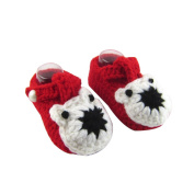 Lanlan 1PCS Cute Handmade Baby Crochet Knit Warm Floor Socks Soft-Soled Shoes Crib Shoes Cotton Yarn Shoes Prewalker 3-12 Months