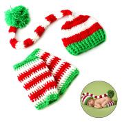 Newborn Baby Christmas Knit Crochet Hat Photography Props Costume Outfits for Boys Girls Baby