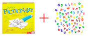 Junior Pictionary Game and Imaginarium 72-Piece Magnetic Letters Set (Colours/Styles Vary) - Bundle