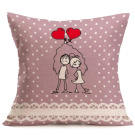 Amiley Cushion Cover Pillow Case , 2017 Valentine's Day Cushion Covers set Throw Waist Pillow Case Sofa Home Decor