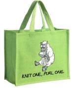 Sheep Design Canvas Jute Shopping bag