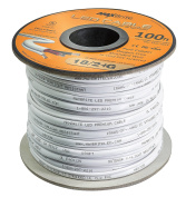 18AWG Low Voltage LED Cable, 3 Conductor, Outdoor Rated, Jacketed In-Wall Speaker Wire UL/cUL Class 2, Sunlight Resistant