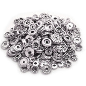 100 Gramme Bali Style Antique Tibetan Silver Findings Jewellery Making DIY Metal Alloy Spacer Beads Deluxe New Mix 200-260pcs