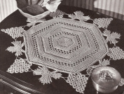 Vintage Crochet PATTERN to make - Irish Crochet Grape/Leaves Doily Mat. NOT a finished item. This is a pattern and/or instructions to make the item only.