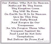 Endless Inspirations Original Cross Stitch Pattern, The Lord's Prayer