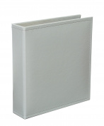 Becky Higgins Grey Faux Leather Album for Scrapbooking, 15cm by 20cm