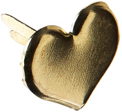 Creative Impressions Metal Paper Fasteners 50/Package, Gold Hearts
