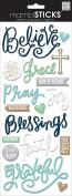 me & my BIG ideas Faith Believe Sticker, 13cm by 30cm