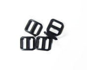 25pcs Black Plastic Slider Tri Glide Adjust Buckles for Dog Collar Harness Backpack Straps Webbing 15mm FLC092-B