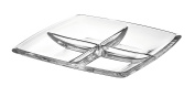 Majestic Gifts AE63236 European Glass Square Relish Dish, 28cm