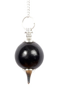 Black Tourmaline Gemstone Ball Pendulum Reiki Healing Chakra Point Dowsing Metaphysical Tool
