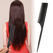 Jocestyle Professional Salon Hairdressing Plastic Rat Tail Comb Black for Hair Sectioning and Styling