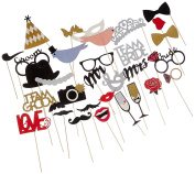 PHOTO BOOTH PROPS ON A STICK Customised Wedding Photo Booth Props - Preassembled and Ready To Use!