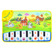 Musical Singing Carpet, Children Durable Piano Mat, Educational Music Keyboard, Colourful Animal Sound Baby Play Keyboard for Kids for Fun