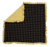 Dear Baby Gear Baby Blankets, Arrows Gold on Black, Gold Minky
