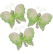 The Butterfly Grove Emily Decoration 3D Hanging Mesh Organza Nylon Decor, Green Honeydew, Mini, 7.6cm x 7.6cm