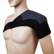 Wonzone Shoulder Support Compression Warmth Protective Gear Adjustable Pad Belts Basketball Fitness Sports Shoulder Protector Brace Shoulder Support Strap