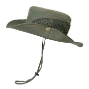 CHIC-CHIC Men's Boonie Hat Wide Brim Bucket Bush Style Sun Hats Outdoor Fishing Hat Cap with Chin Strap