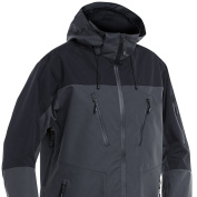 FLADEN Fishing Authentic Wear Fully Waterproof and Windproof GREY BLACK Jacket - Ideal for Fishing, Hunting, Outdoor & Similar Pursuits