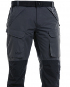 FLADEN Fishing Authentic Wear Fully Waterproof and Windproof Outdoor Utility Trousers - GREY / BLACK - Ideal for Fishing, Hunting & Similar Pursuits