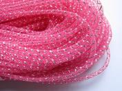 YYCRAF 25 Yards Solid Mesh Tube Deco Flex for Wreaths Cyberlox Crin Crafts 4mm