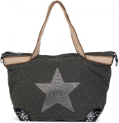 styleBREAKER Women's Shoulder Bag Grey Dark Grey One Size