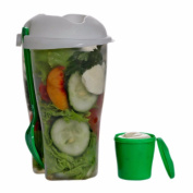 fresh salad storage Fresh Salad On Go Cup Container Serving Cup Shaker with Dressing Container Fork Food Storage for Picnic Lunch fresh salad lunch box