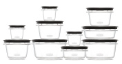 Rubbermaid Rubbermaid Premier Food Storage Containers, 20-Piece Set, Grey,