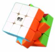 D-FantiX QiYi Warrior W Speed Cube 3x3 Stickerless Magic Cube Puzzles