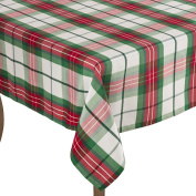 Multi Christmas Holiday Plaid Design Holiday Tablecloth, 180cm Square