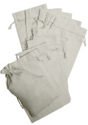 100 Percent Cotton Muslin Drawstring Bags 12-Pack For Storage Pantry Gifts