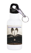Sticker Skin Print Old Paper Book Quote Romance Heart Printed Design 590ml Stainless Water Bottle by Smarter Designs
