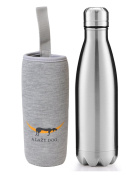 A Lazy Dog Vacuum Insulated Water Bottle 500ml Double Walled Stainless Steel Cola Shape Water Bottle Outdoor Sports
