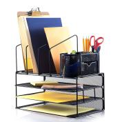 Saganizer desk organiser set (41cm ) adjustable desktop organiser, comes with extra supply organiser caddy