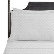 Bed Sheet Bedding Set, Twin, Silver Grey, Elegant Checkerboard Design - 2000 Luxury Bedding Collection, Soft Microfiber Deep Pocket Sheet, Hypoallergenic, Bed Linen Set by Nestl Bedding