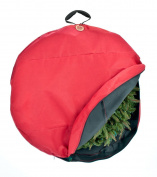 TreeKeeper Wreath Storage Bag with Direct Suspend Handle, Red, 60cm