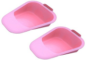 Vakly Fracture Bed Pan with Built-In Handle and Plastic Guard - Pink (Mauve)