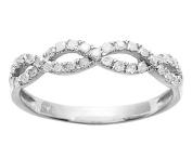 10k Rhodium-Plated White Gold Infinity Diamond Anniversary Ring