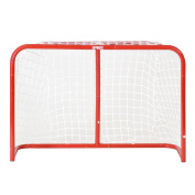 Base Streethockey 74621 Hockey Goals 80cm Including Sticks and Ball Red by Base London