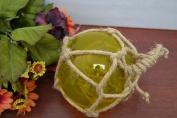 Yellow Reproduction Glass Float Fishing Buoy Ball 13cm