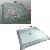 Tanchen Foldable Umbrella Baits Fishing Trap Mesh Net Crab Shrimp Crawfish Lobster Cast Dip Net 100cmX100cm