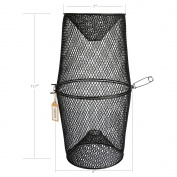 Pisfun Minnow Trap Crawfish/Ell/Grass Shrimp/Crawdads Trap Steel Bait Traps Storage Fishing Net Bucket