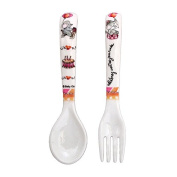 Baby Cie Celebrate Your Day Textured Fork & Spoon, Multicolor