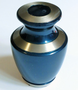 Funeral Urn by Liliane - Keepsake Cremation Urn for Human Ashes - Hand Made in Brass - Fits a Small Amount of Cremated Remains of Adults as Well as the ashes of dogs, cats or other pets - Display Keepsake Burial Urn at Home or Office