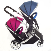 Kids Kargo Double Twin Tandem Pushchair. Duellette 21 Combi Suitable for Twins from 6 months. Stroller by Kids Kargo